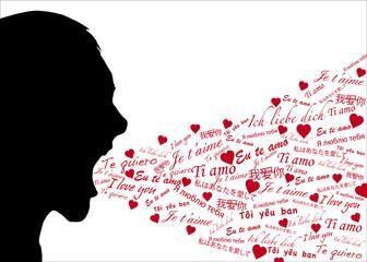 Silhouette_déclaration d'amour