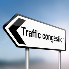 Traffic congestion concept.