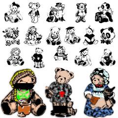 zoo wild domestic character animals design bear