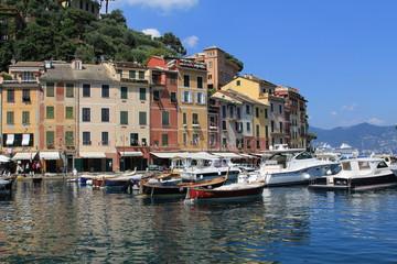 Canvas Prints Liguria portofino panorama porto