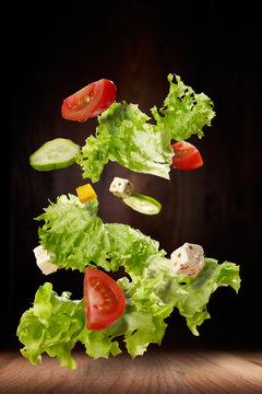 Fliegender Salat