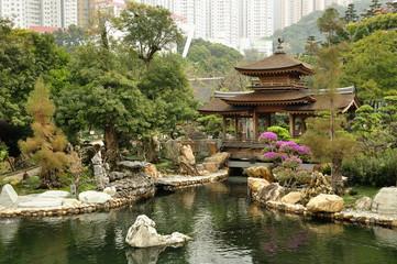 Nan Lian Garden, Kowloon, Hong Kong. Wall mural