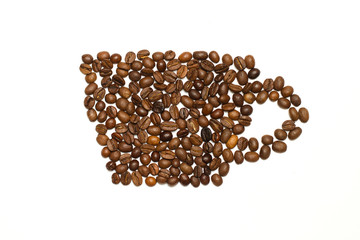 Cap made of cofee beans