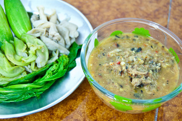 Shrimp paste dip with Fish