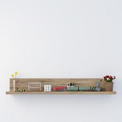 Stylish bookshelf kids room