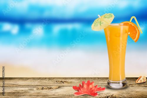 коктейль море закат ананас бесплатно