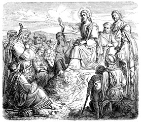 Jesus says to the Mount of Olives sermon