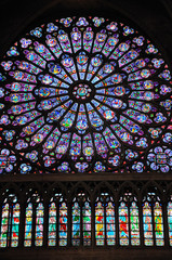 Wall Murals Stained vitraux de notre dame de Paris
