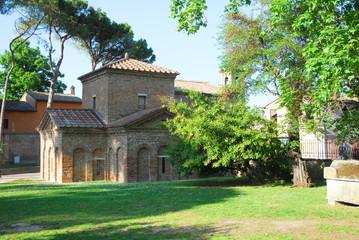 Italy Ravenna world famous Galla Placidia mausoleum