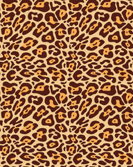 Seamless leopard fur pattern