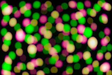 Defocused colorful lights