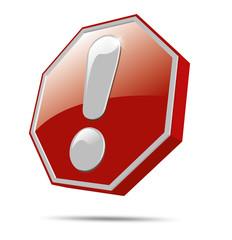 button 3d stop achtung aufpassen wichtig gefahr