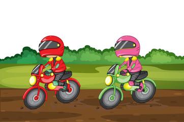 La pose en embrasure Motocyclette racing