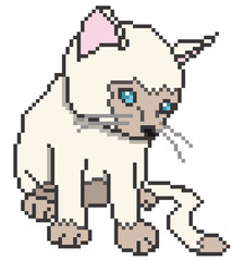 Pixel Kitten Isolated