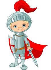 Photo sur cadre textile Super heros Medieval knight