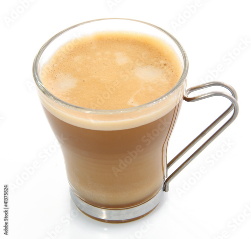 verre de caf au lait photo libre de droits sur la banque d 39 images image 41375824. Black Bedroom Furniture Sets. Home Design Ideas