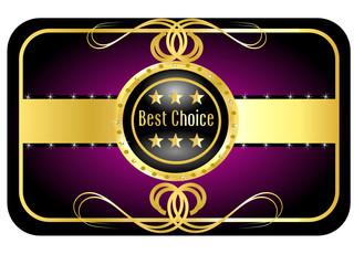 Best choice card