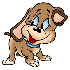 Puppy Dog - Colored Cartoon Illustration