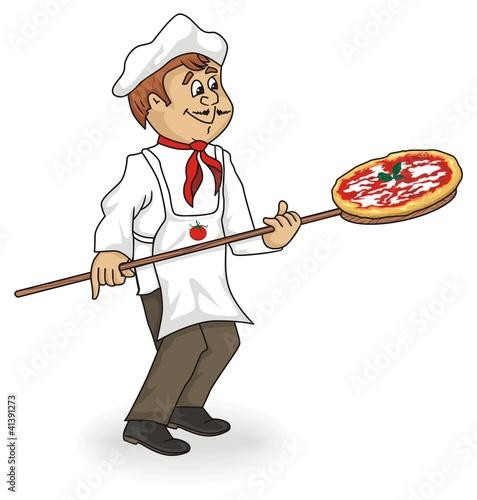 Pizzaiolo cartoon immagini e vettoriali royalty free su for Scarica clipart