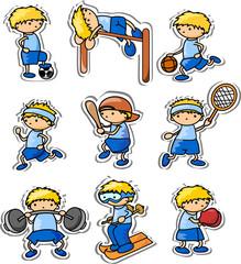 Значки мультфильм спорт