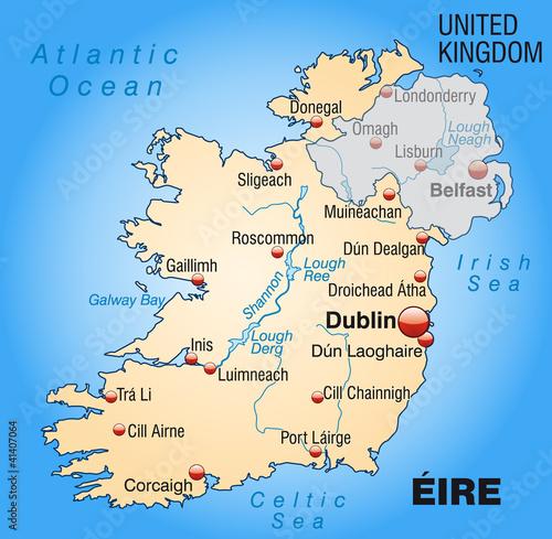 Irland Karte Pdf.Landkarte Von Irland Und Nordirland Stock Image And Royalty