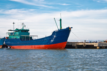 The Big boat of oil tanker