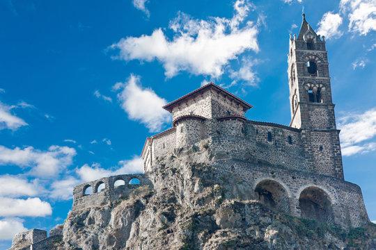 rocher et chapelle  saint-michel-d'aiguilhe, le Puy
