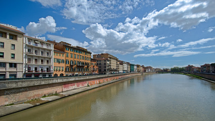Waterfront Arno in Pisa