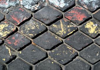 Old tire tread