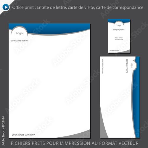 Tte De Lettre A4 Carte Visite Carton Correspondance Fichier Vectoriel Libre Droits Sur La Banque Dimages Fotolia