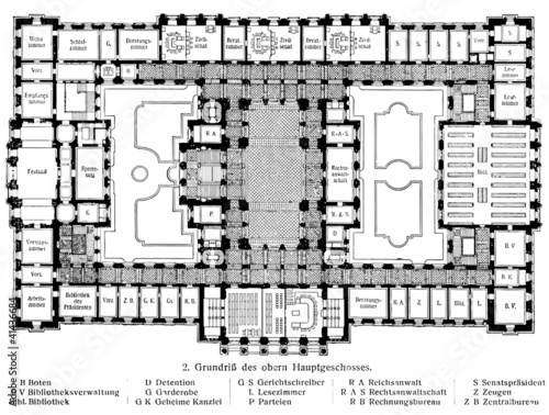 Quot Layout Of The Building Of The Supreme Court In Leipzig
