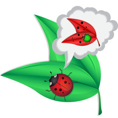 ladybug wants to be a plant