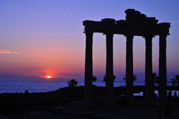 ruins of apollo temple , side, antalya