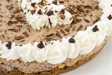 cheesecake al cioccolato e formaggio