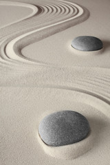 Acrylic Prints Stones in Sand meditation background