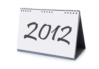 desk calendar 2012 isolated on white background