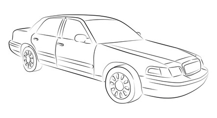 Drawing of sedan