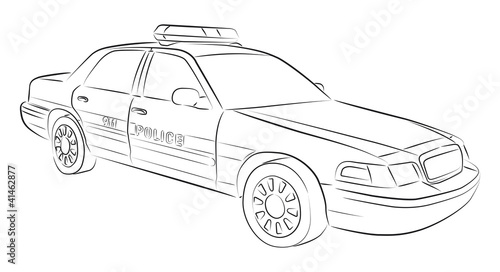 Drawing Of Police Car Stock Image And Royalty Free Vector Files On