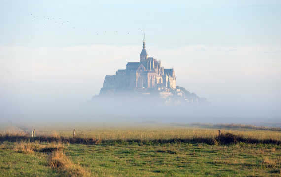 mystic castle in the clouds
