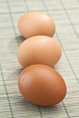 eggs on rustic cloth