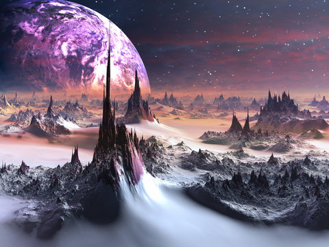 Winter on Alien World
