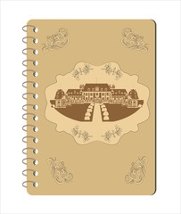 old notebook vector