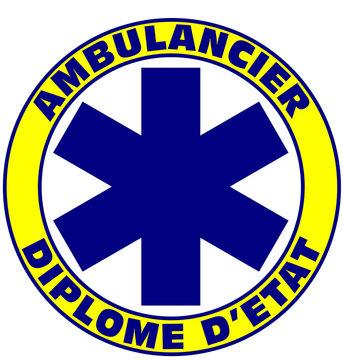 Écusson Ambulancier Diplômé d'Etat