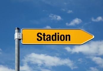 Pfeil mit blauem Himmel STADION