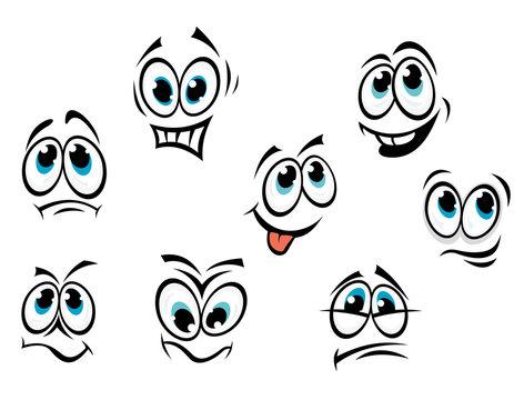 Comics cartoon faces