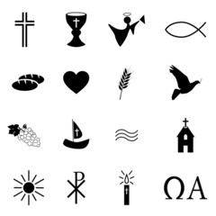 16 Religiöse Symbole