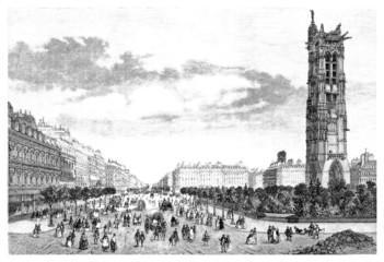 Paris - a view : Bld de Sebastopol - 19th century