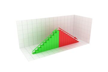 Business graph. 3D image.
