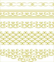 The original gold decorative patterns