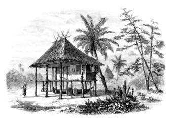 Trad. House on Stilst - Pilotis - Pfahlbau